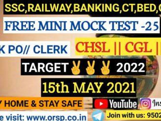 Online Mock Test Free(15.05.2021)-ORSP