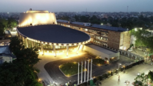 Prime Minister Narendra Modi has inaugurated the International Cooperation and Convention Centre, ' Rudrakash' in which city?