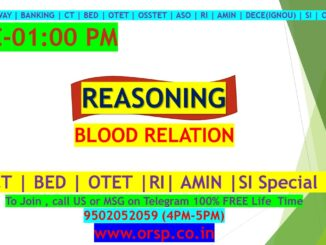 | BLOOD RELATIONS | REASONING | ORSP |