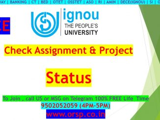 | How To Check Assignment & Project Status | DECE | IGNOU | ORSP |