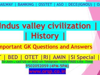 | Indus valley civilization History | ORSP |