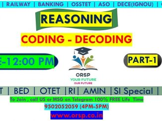 | CODING - DECODING | ALL IN ONE | REASONING | ORSP |