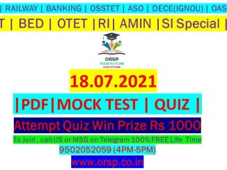   FREE Mock Test   RI AMIN Special   SSC RAILWAY BANKING CT BED OTET   ORSP  