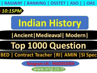 | Most Important Indian History Questions | Top 1000 | ORSP |