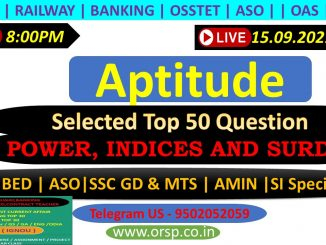 | POWER, INDICES AND SURDS | Shortcut with Tricks | ORSP |