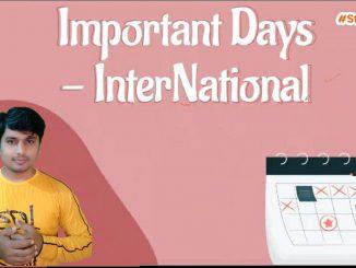  Important Days   International   Static GK   ORSP  